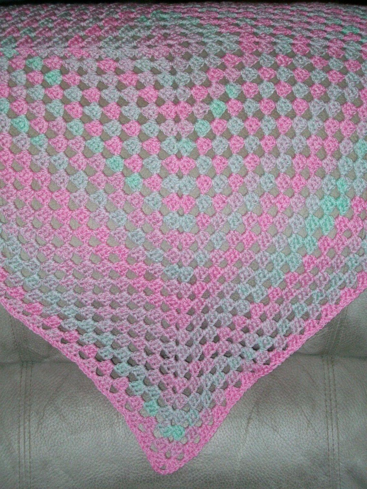 HANDMADE Crochet Baby Blanket Afghan - Nicole Picnic Yarn -