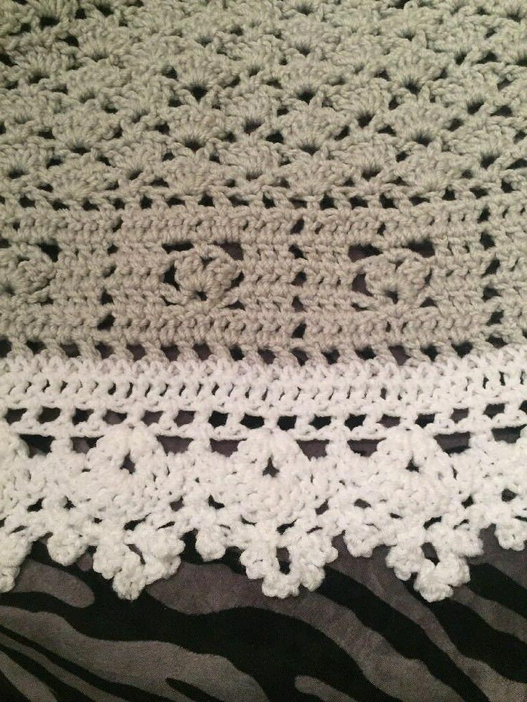 Crochet Sweet Dreams Baby Blanket Afghan White Help a Puppy!!!