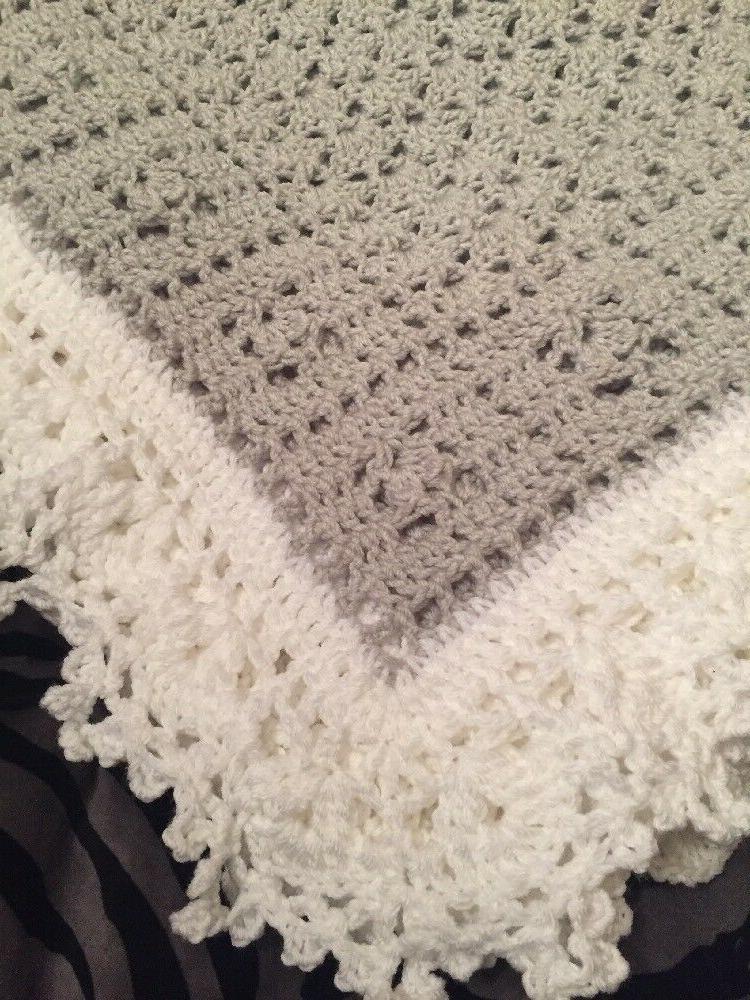 Crochet Sweet Baby Blanket White Help