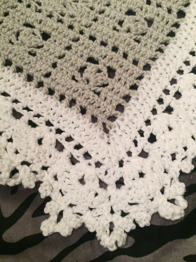 Crochet Blanket Gray And