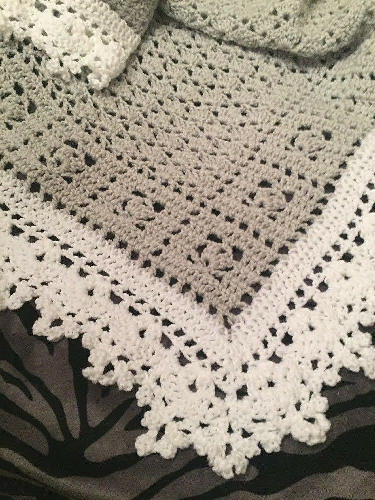 crochet sweet dreams baby blanket afghan gray