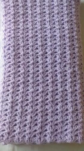 Handmade Crocheted / Afghan / Car seat/ stroller throw