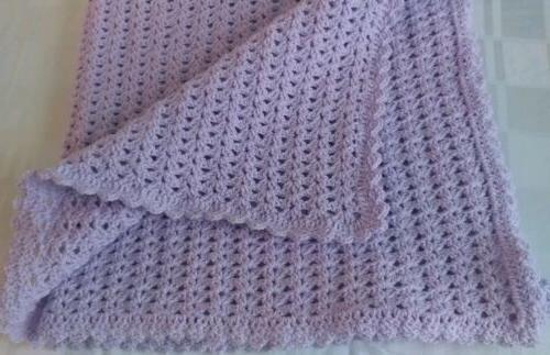 crocheted baby blanket afghan car seat stroller