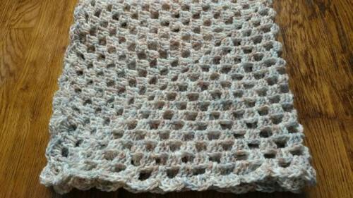Handmade Crocheted Baby / lap throw