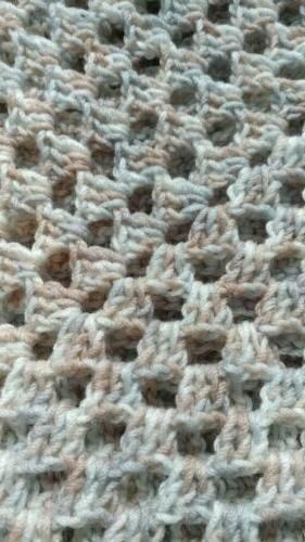 Handmade Crocheted Blanket / Car lap throw