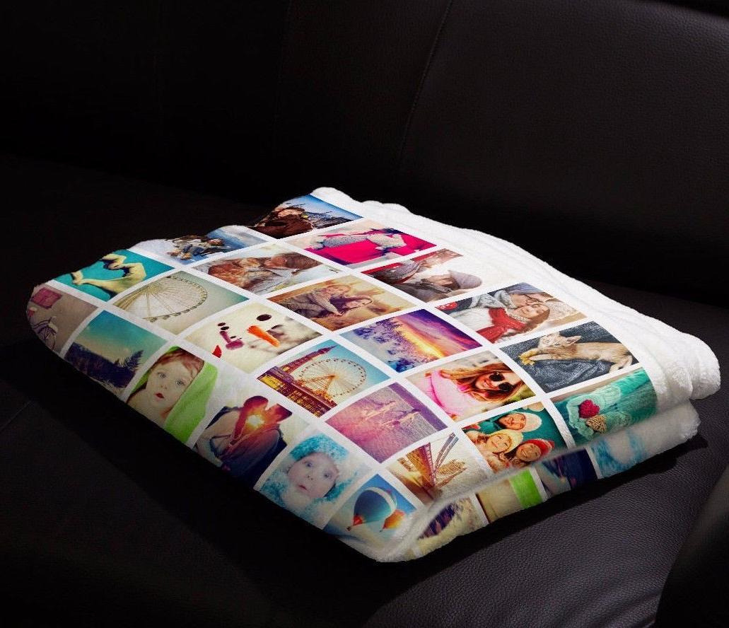 Custom Baby Blanket Photo Plush Fleece Personalized and Full