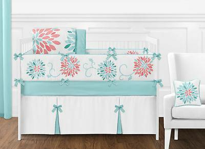 cute modern floral baby bedding