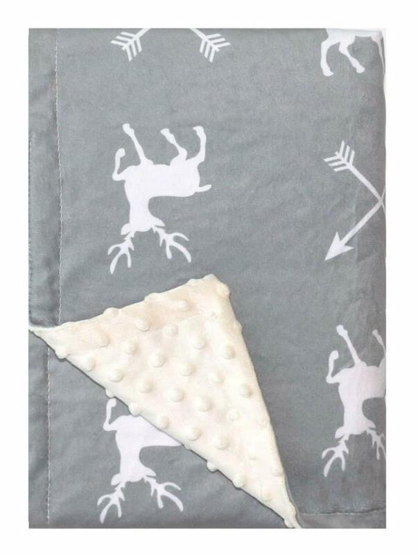 deer minky baby blanket for boys girls