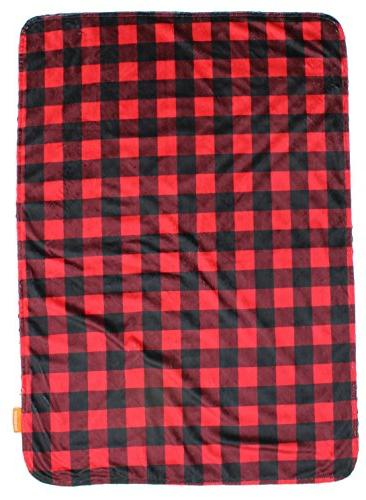 Dear Gear Reversible Baby Minky Red and