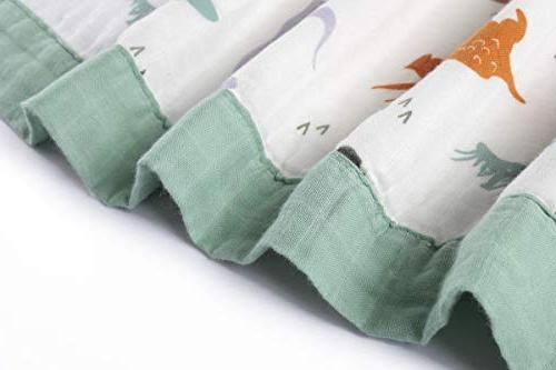 "Dinosaur Toddler Bamboo Baby Blankets Boys x 47"" Layers Boy Blanket"
