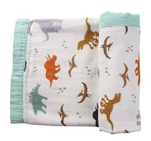 Dinosaur Bamboo Blankets for Boys - x 2 Layers Boy Blanket
