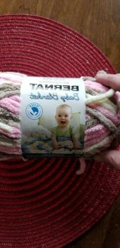 "DISCONTINUED BERNAT® Baby Blanket ""LITTLE PETUNIAS"" 6 Yarn"