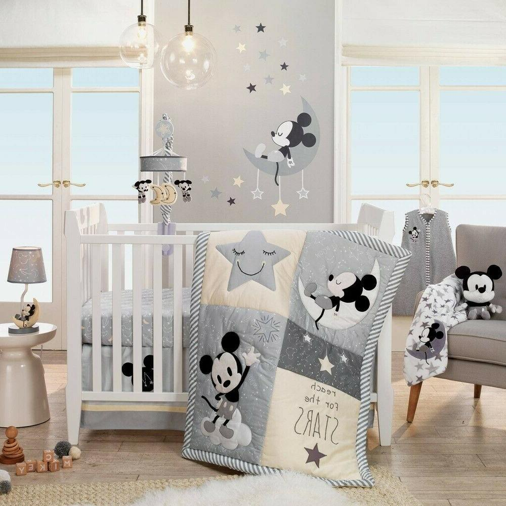 Disney Baby White/Gray Celestial Fleece Blanket