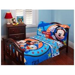 Disney Mickey Mouse 4pc Toddler Microfiber Bedding Set Clubh