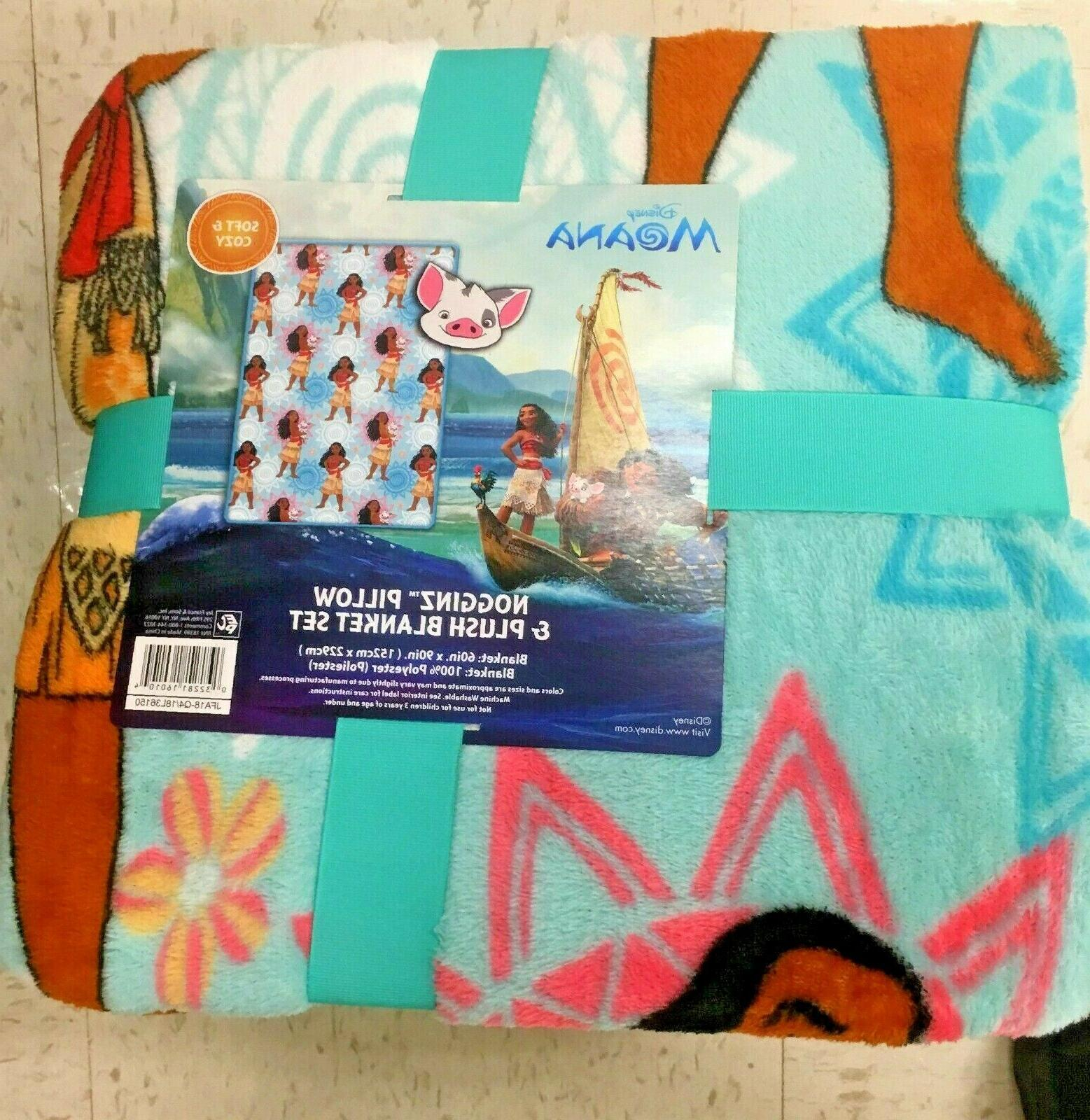 Disney Moana Nogginz Blanket and Pillow