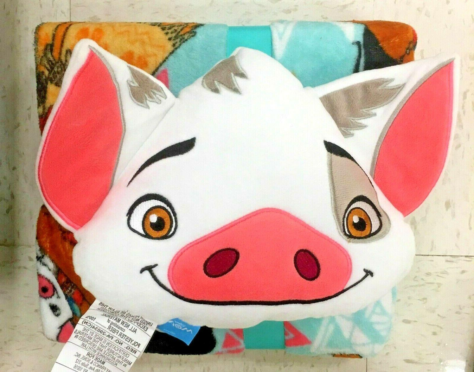 disney moana pua pig throw blanket