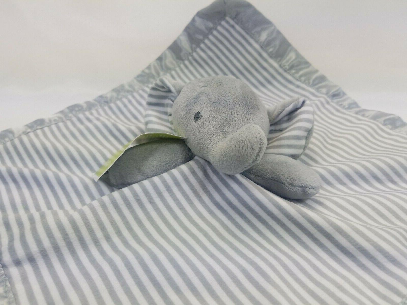 "Circo Elephant Baby Security Blanket 14"" x Gray Silky Material"