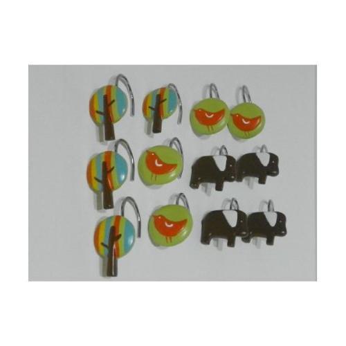 elephant shower hooks