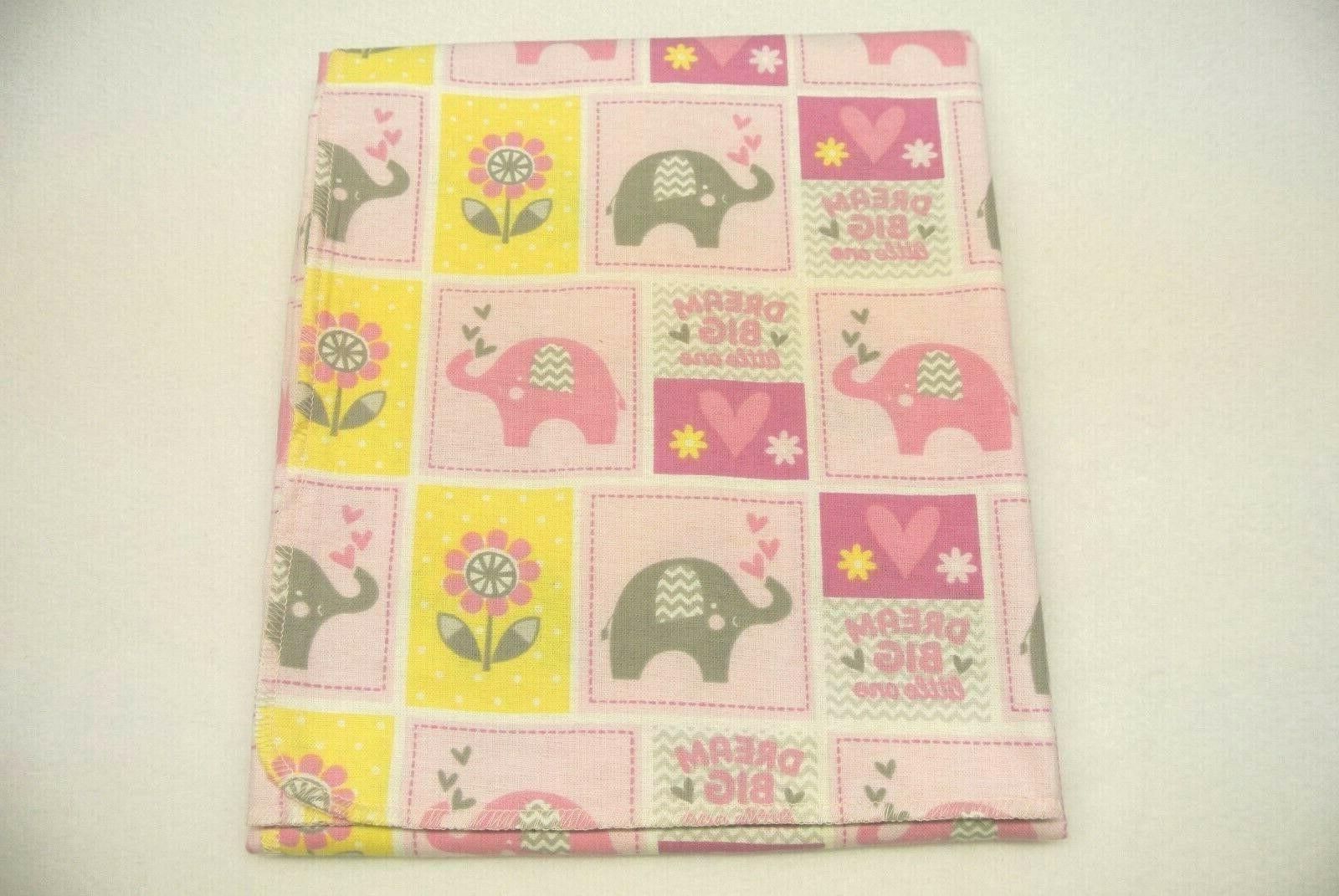 elephants flowers dream big baby blanket can