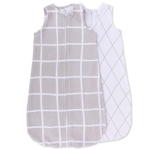 Ely's & Co Wearable Blanket Baby Sleep Bag I Grey Grid 3-6 M