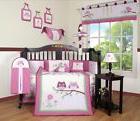 Entranced Forest Baby Girl Nursery CRIB BEDDING SET 14PCS In