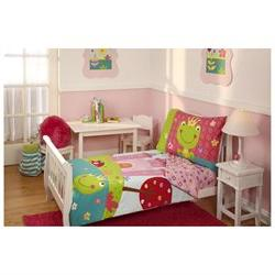 4pc Fairytale Toddler Bedding Set - Frog Prince Princess Cas
