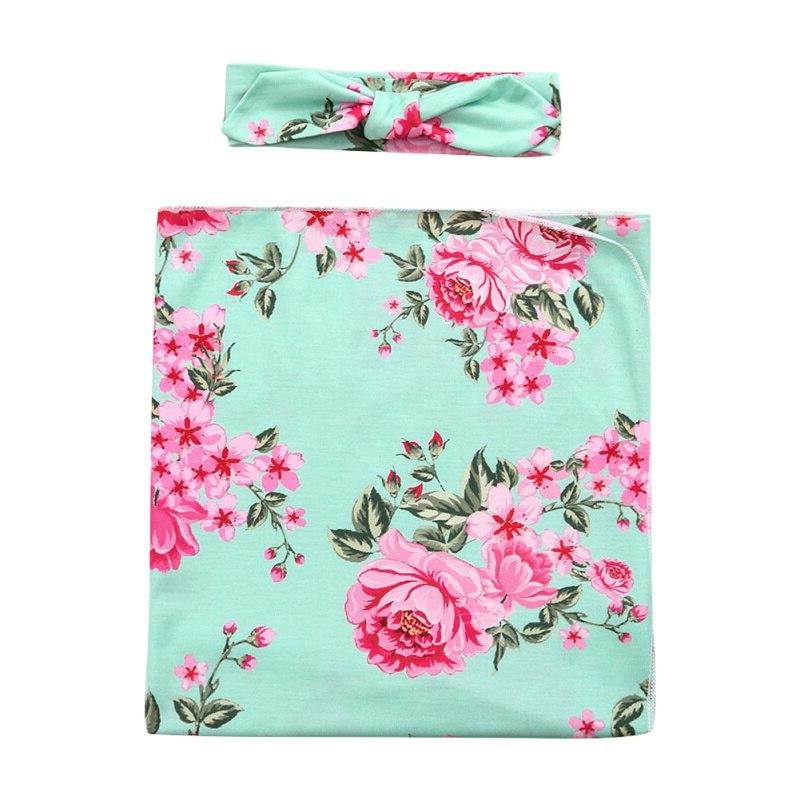 <font><b>Baby</b></font> Swaddle <font><b>Baby</b></font> Floral Toddler Girl Boys <font><b>Blanket</b></font> Headband