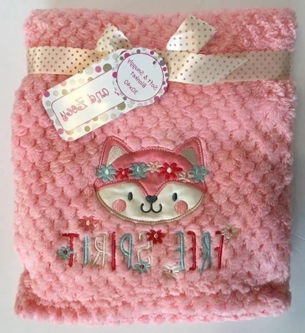 fox baby blanket boho free spirit girls