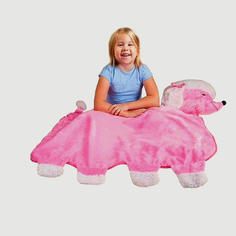 Bestever Best Friend Blankie Pink Poodle