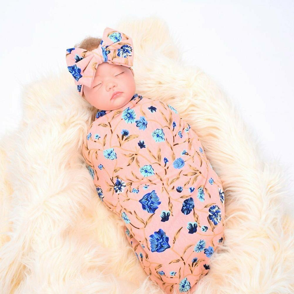 Galabloomer Headband Print Baby Swaddle