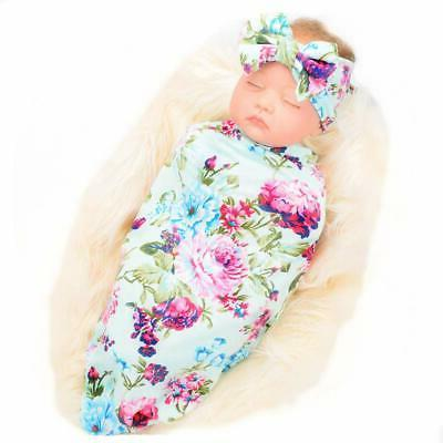 galabloomer newborn receiving blanket headband set flower