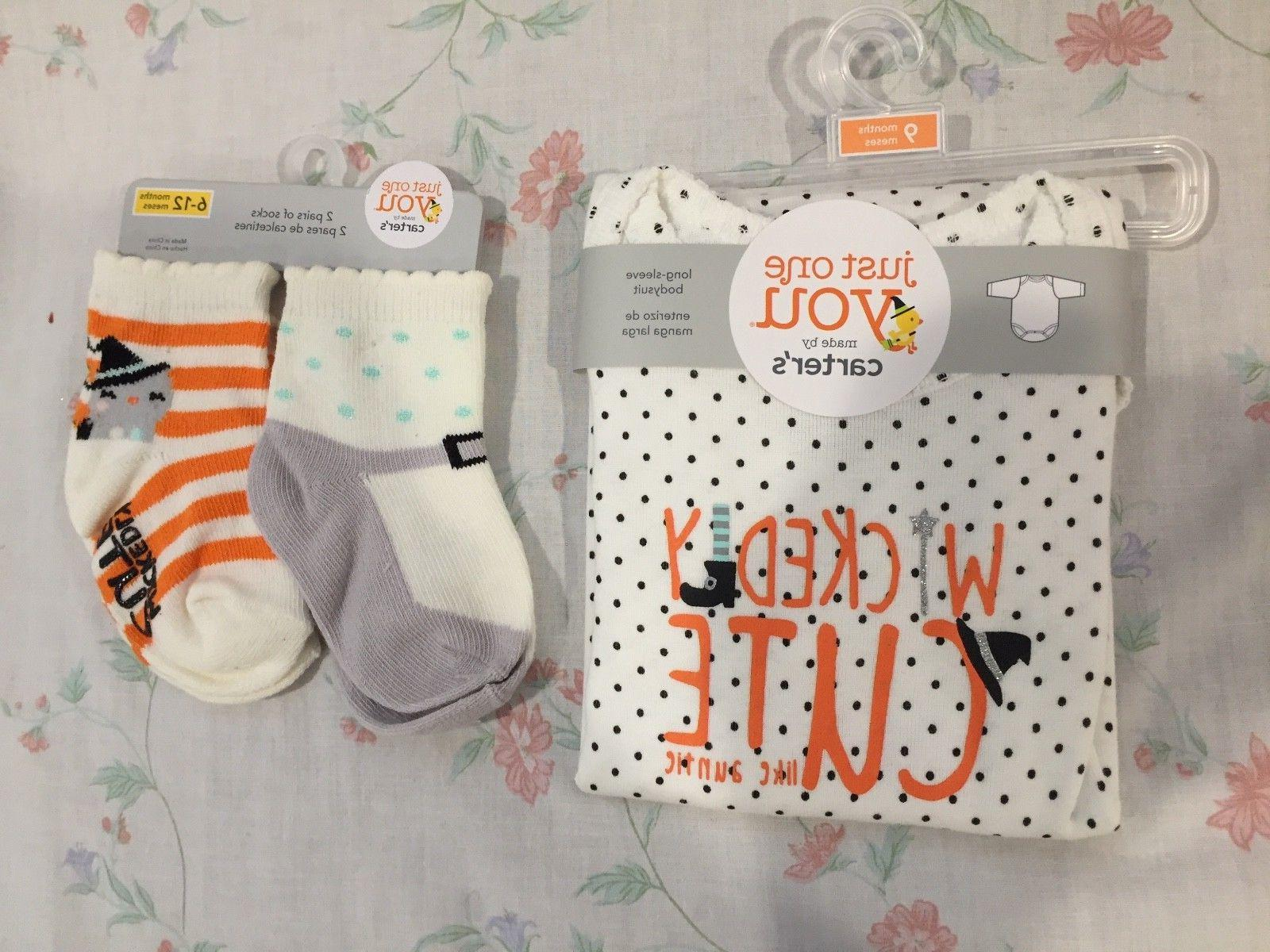 Girls' Carter's Just One You HALLOWEEN Bodysuit & 2 Pairs So
