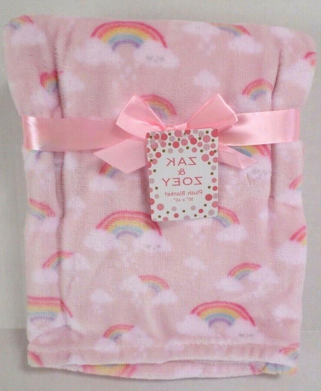 girls rainbow print baby blanket lightweight lt
