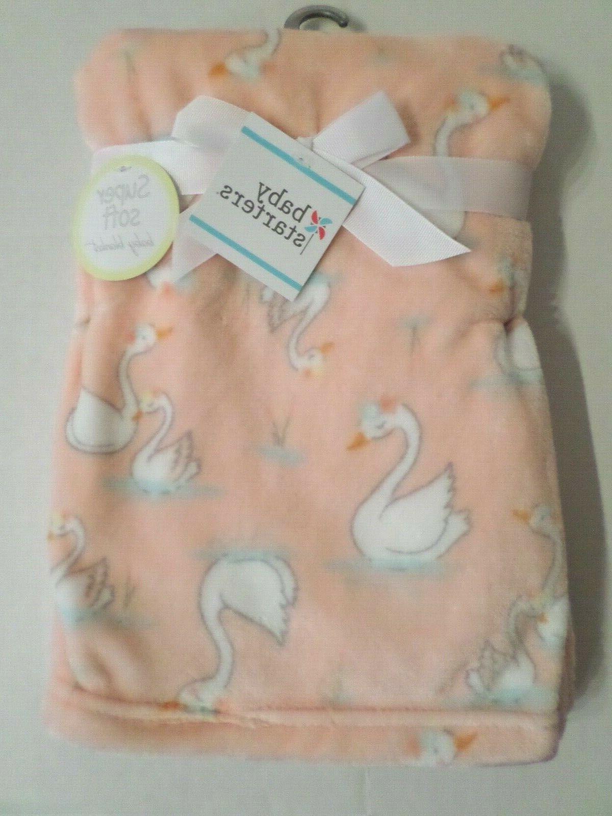 girls super soft flower print baby blanket