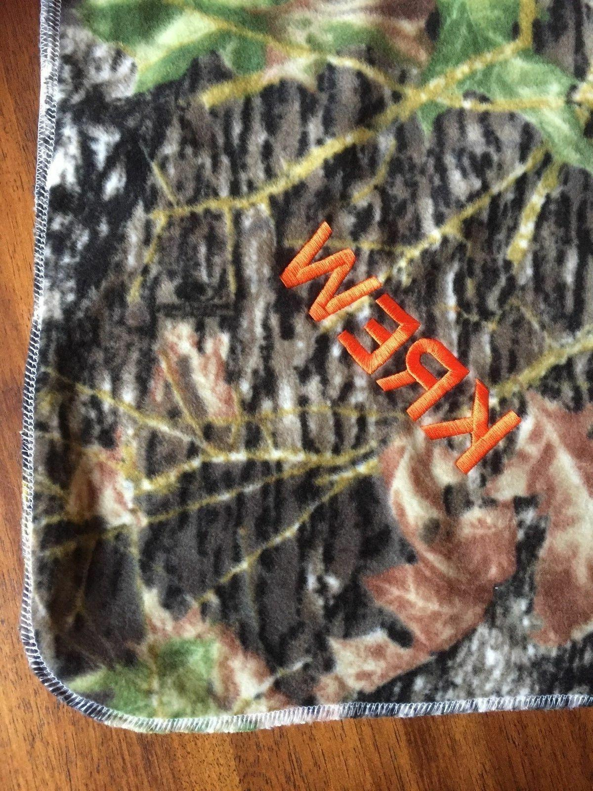 Green Mossy Oak Camo Baby Toddler Blanket Can Be Personalize