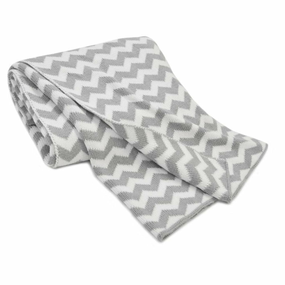 grey chevron zigzag 100 percent cotton sweater