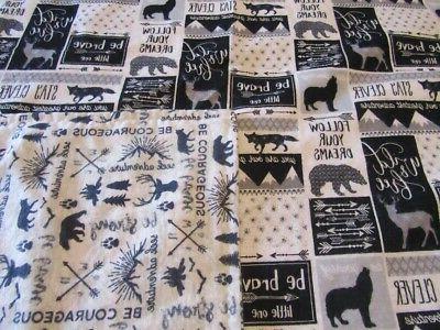 handmade woodland animal adventure double sided flannel