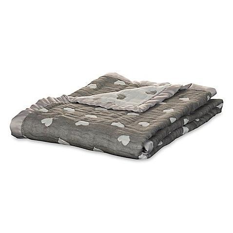 hearts muslin jacquard blanket