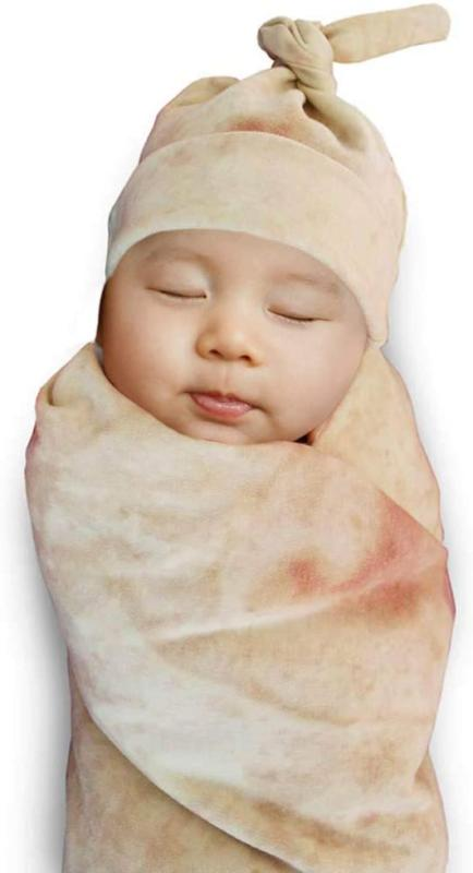 Hongyitime Burrito Wrap Novelty Blanket With Hat For Baby, T