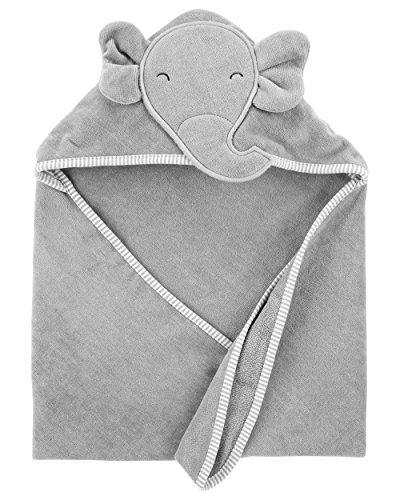 hooded bath towel happy elephant