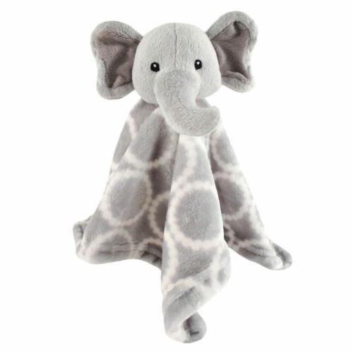 hudson baby animal friend plushy security blanket gray eleph