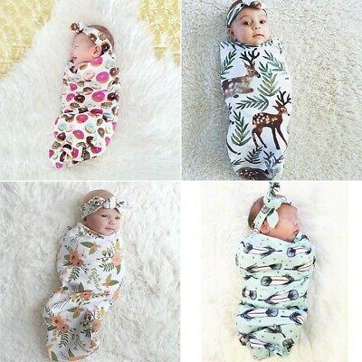 infant baby deer swaddle blanket newborn warm