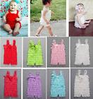 Infant Baby Newborn Girls Short Lace Ruffle Jumpsuit Romper