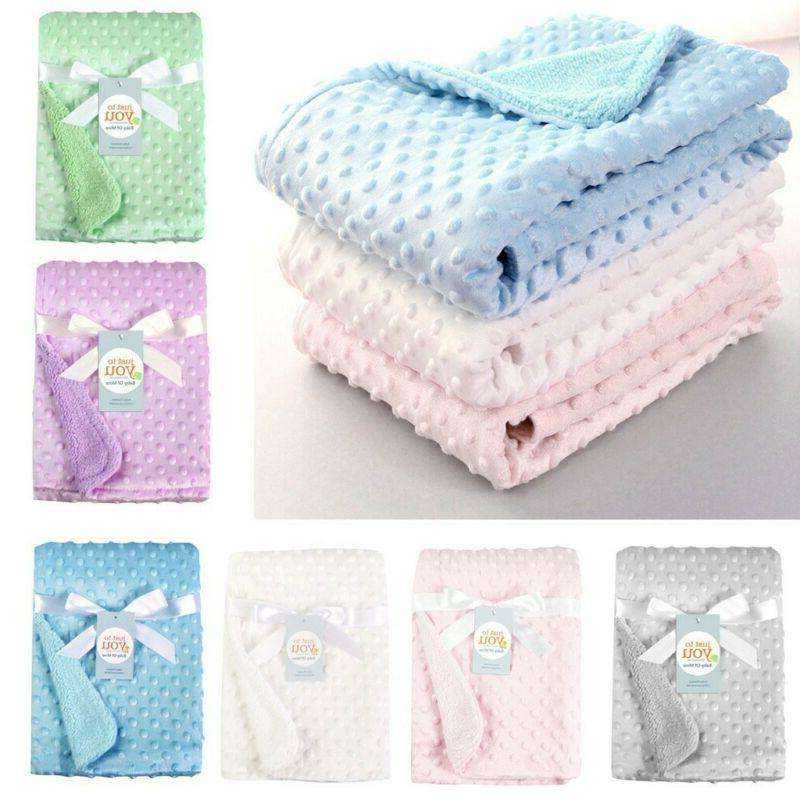 Toddler Baby Solid Blanket & Swaddling Thermal Soft Kids Fle