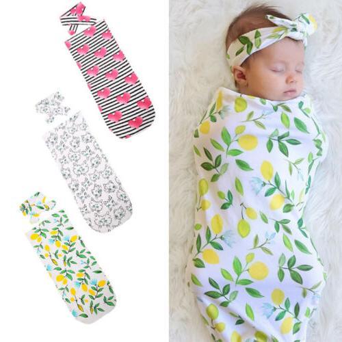 Infant Swaddle Baby Swaddle Wrap Headband USA
