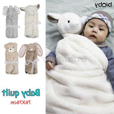 Infant Newborn Baby Boy Girl Soft Fleece Swaddle Warm Wrap B