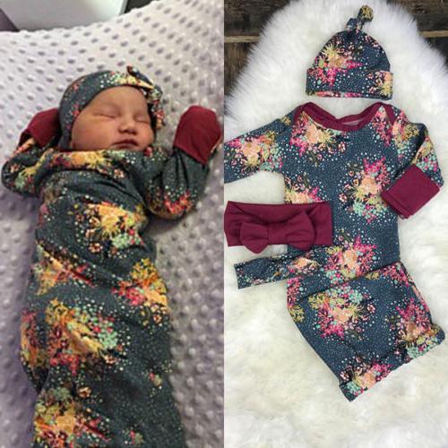 Infant Newborn Boy Swaddle Wrap Blanket Muslin Floral