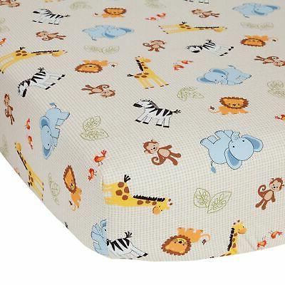 Bedtime Originals Jungle Buddies Sheet, Brown/Yellow by Bedt