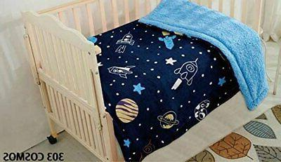 Kids Baby Toddler Super Soft and Cozy Blanket, Navy Toddler