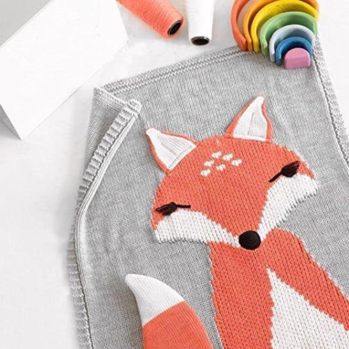 Makaor Fox Knitting Blanket Blanket Animal Blanket Baby By
